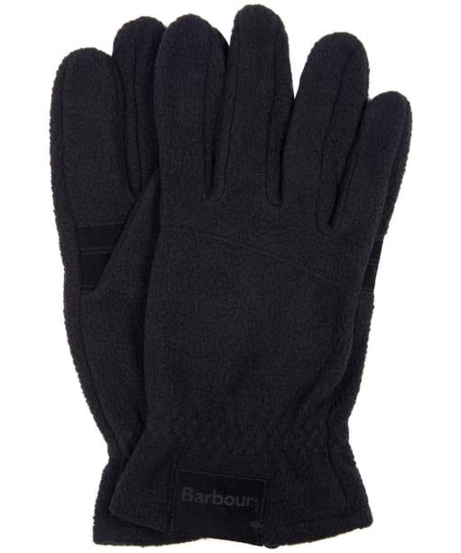 Men's Barbour Fleece Country Gloves - Black