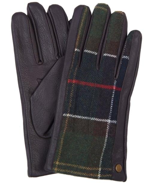 Men's Barbour Weldon Tartan Gloves - Dark Brown / Classic Tartan