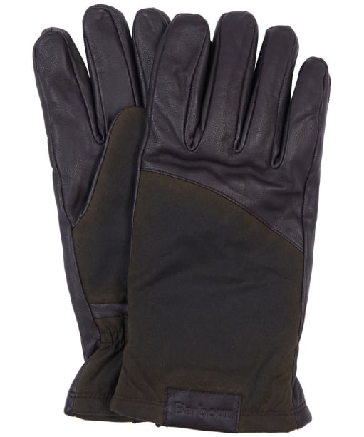 Men's Barbour Hebden Leather Gloves - Dark Brown