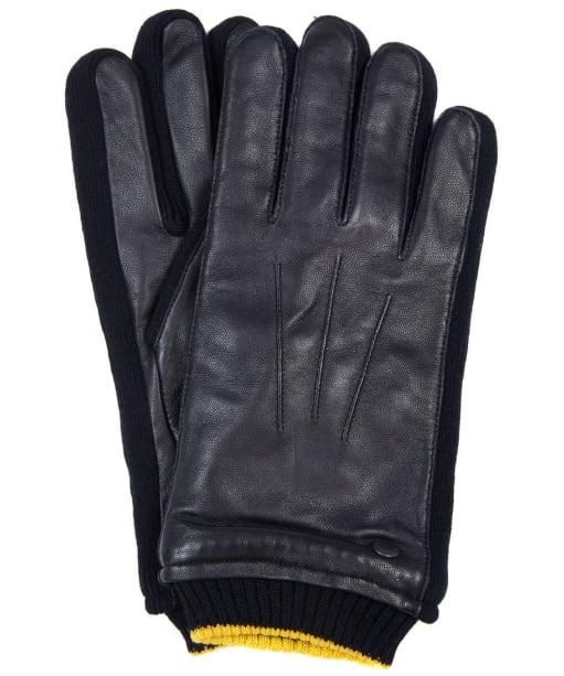 Men's Barbour International Union Leather Gloves - Black