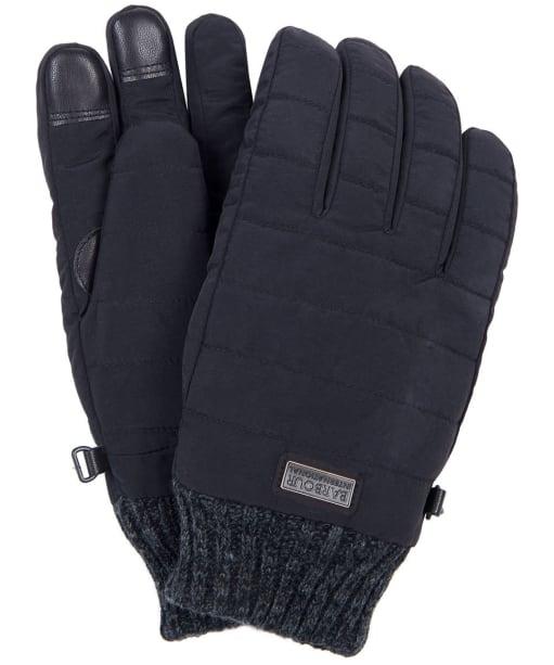 Men's Barbour International Peak Baffle Gloves - Black