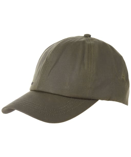 Men's Barbour Waxed Sports Cap - Archive Olive
