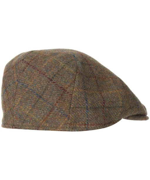 Men's Barbour Wool Crieff Flat Cap - Brown / Red / Blue