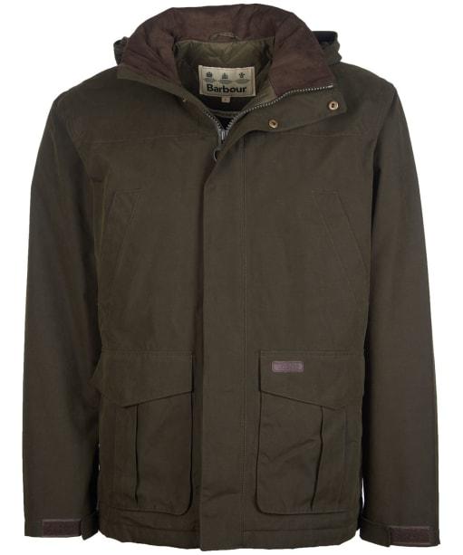 Men's Barbour Brockstone Waterproof Jacket - Dark Olive