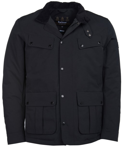 Men's Barbour International Waterproof Duke Jacket - Black