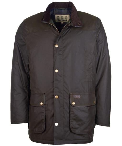 Men's Barbour Hartlington Waxed Jacket - Olive
