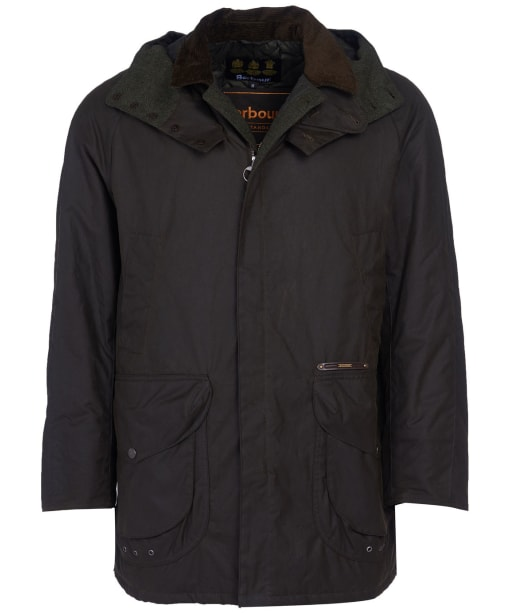 Men's Barbour Gold Standard Supa Beaufort Waxed Jacket - Olive