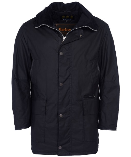Men's Barbour Gold Standard Supa Border Waxed Jacket - Black