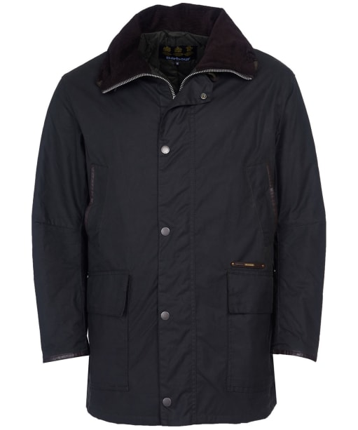 Men's Barbour Gold Standard Supa Border Waxed Jacket - Sage
