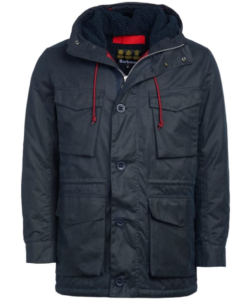 Men's Barbour Ordel Waxed Jacket - Navy