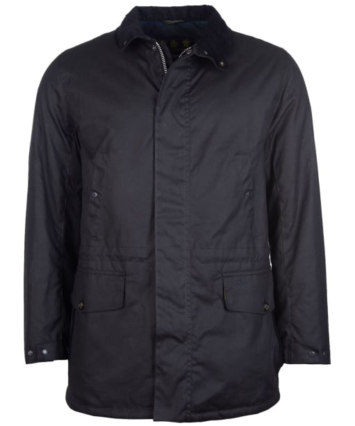 Men's Barbour Hafden Waxed Jacket - Black
