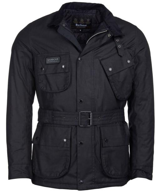 Men's Barbour International Coloured SL International Waxed Jacket - Black