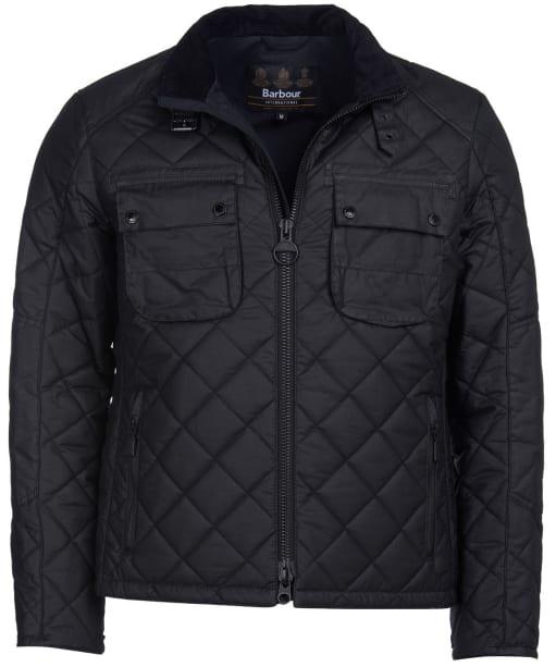 Men's Barbour International Peel Waxed Jacket - Black