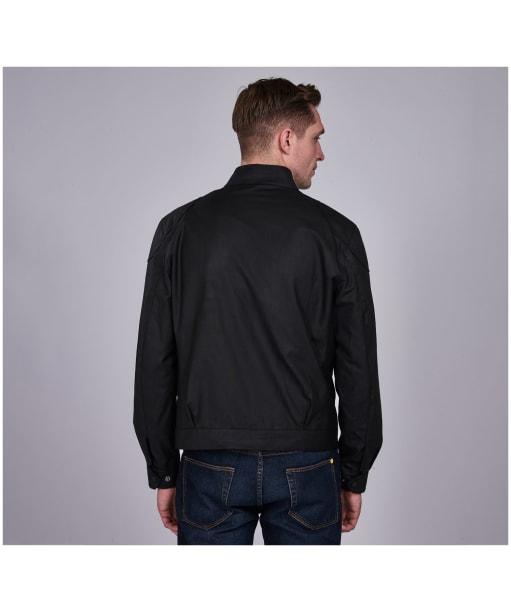 Men's Barbour International Stove Waxed Jacket - Black