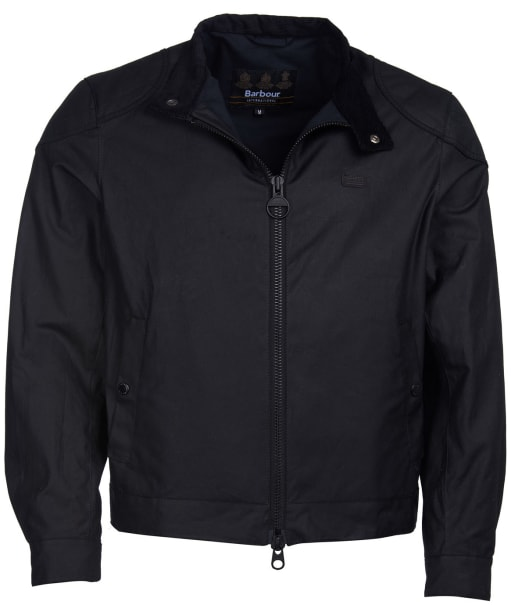 Men's Barbour International Stove Waxed Jacket - Black