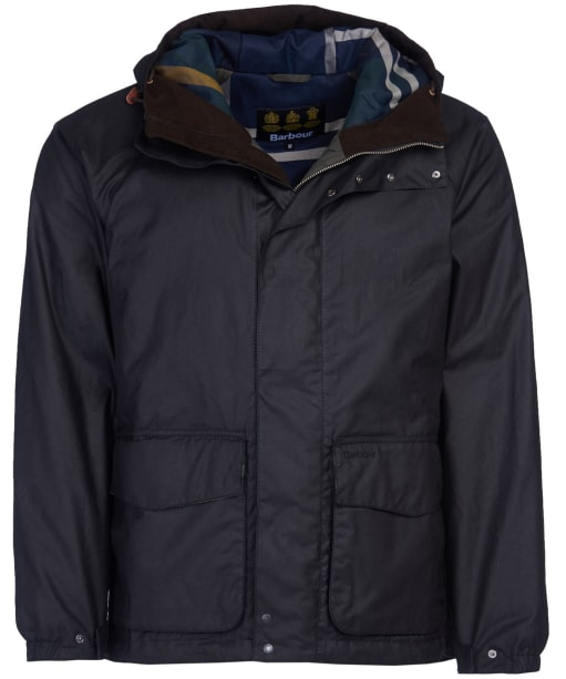 Men's Barbour Grendle Waxed Jacket - Black