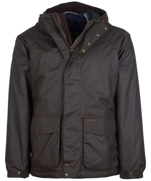 Men's Barbour Grendle Waxed Jacket - Olive