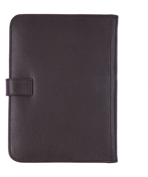Barbour Kilnsey Leather Notebook Cover - Dark Brown