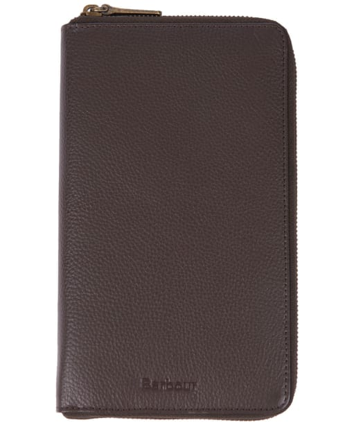 Barbour Kilnsey Leather Travel Wallet - Dark Brown