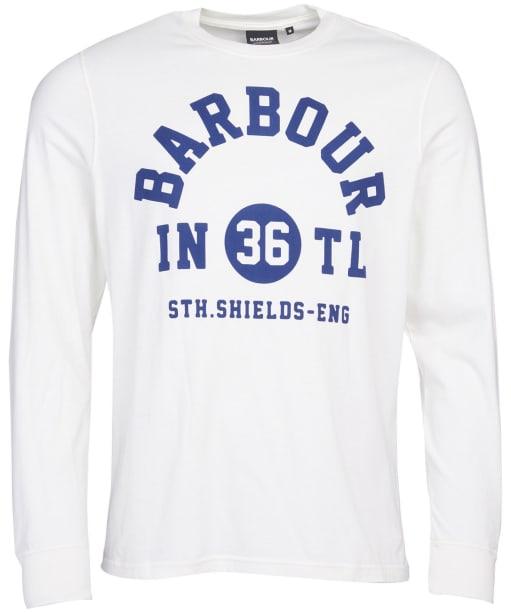 Men's Barbour International Collegiate L/S Tee - Whisper White