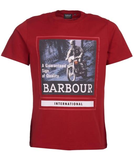 Men's Barbour International Heritage Tee - Crimson