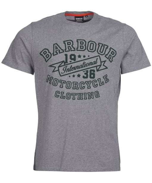 Men's Barbour International Banner Tee - Anthracite Marl