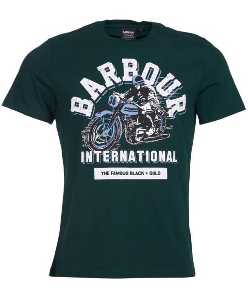 Men's Barbour International Rider Tee - Seaweed