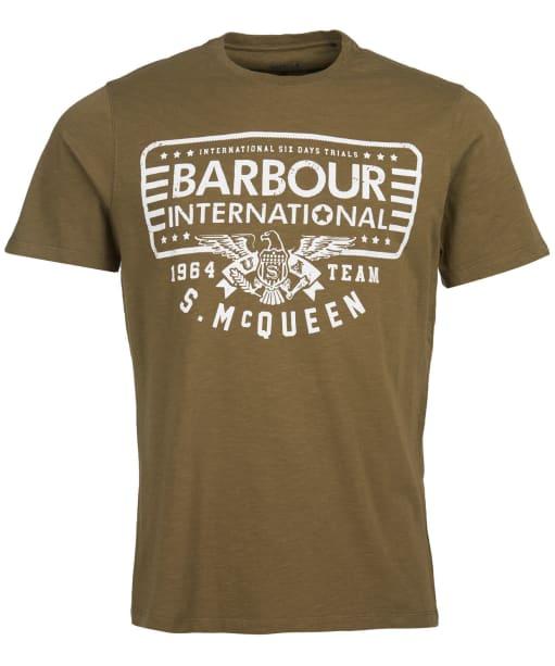 Men's Barbour International Steve McQueen Eagle Tee - Beech