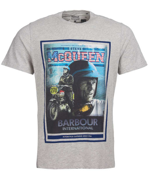 Men's Barbour International Steve McQueen Boon Tee - Grey Marl