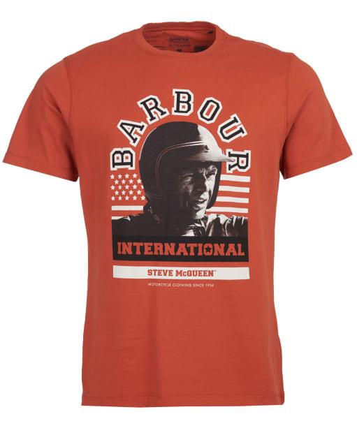 Men's Barbour International Steve McQueen Jake Graphic Tee - Brick Red