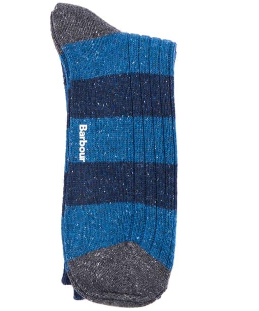 Men's Barbour Houghton Stripe Socks - Blue / Ecru
