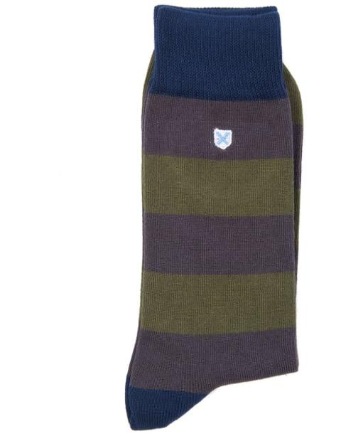 Men's Barbour Oxton Socks - Olive / Grey