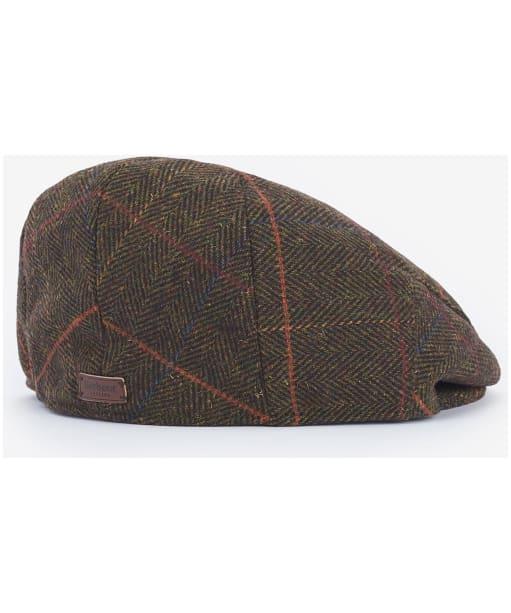 Men's Barbour Wilkin Flat Cap - Olive Herringbone