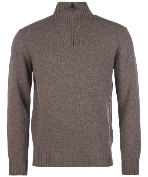 Men's Barbour Essential Wool Half Zip Sweater - Dark Stone