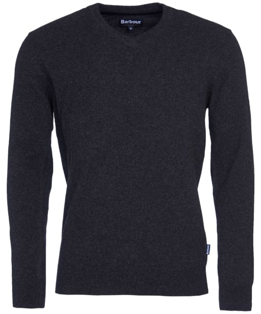 Men's Barbour Harrow V-neck Sweater - Charcoal