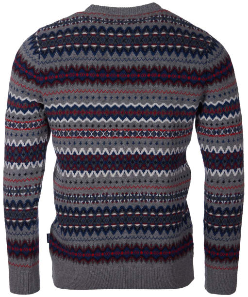Men's Barbour Case Fairisle Crew Neck Jumper - Mid Grey