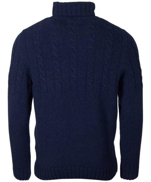 Men's Barbour Duffle Cable Crew Sweater - Dark Denim