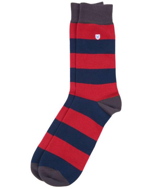 Men's Barbour Oxton Socks - Dark Navy / Red