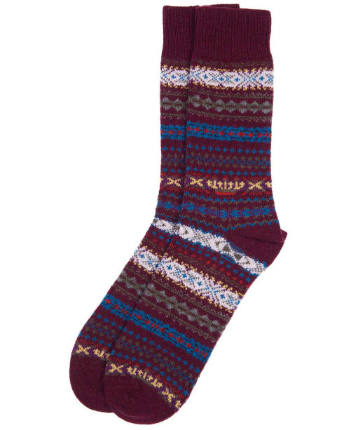 Men's Barbour Boyd Socks - Burgundy