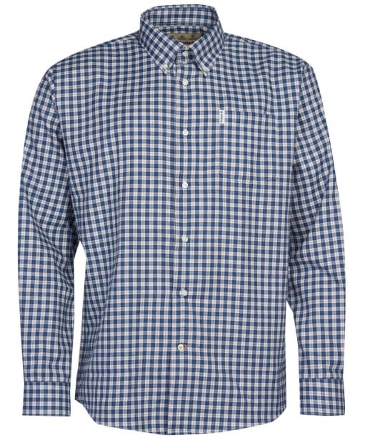 Men's Barbour Thornley Thermo Weave Shirt - Navy Check