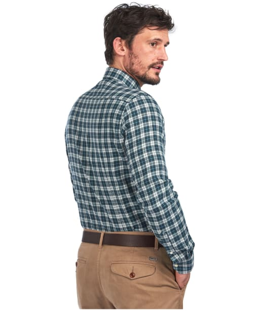 Men's Barbour Eco 3 Tailored Shirt - Grey Marl Check