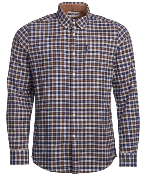 Men's Barbour Country Check 12 Tailored Shirt - Brown Check