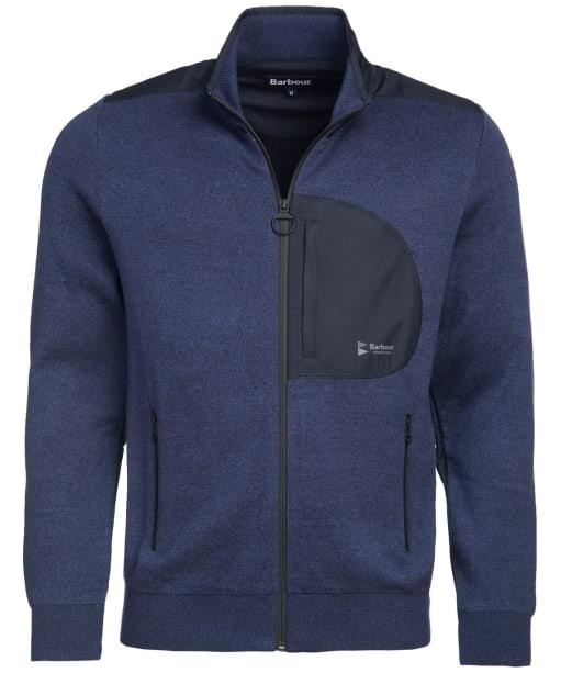 Men's Barbour Irving Zip Through Sweater - Dark Denim