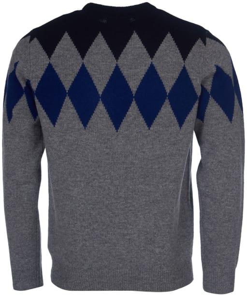 Men's Barbour Diamond Crew Sweater - Grey Marl