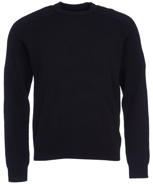 Men's Barbour International Rib Sleeve Crew Sweater - Black