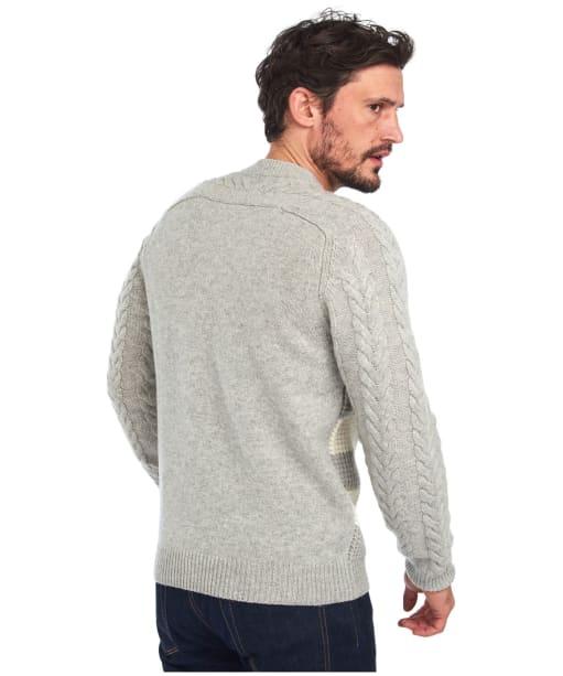 Men's Barbour Elver Cable Crew Sweater - Ecru Marl