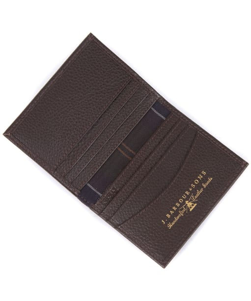 Men's Barbour Amble Small Leather Wallet - Dark Brown