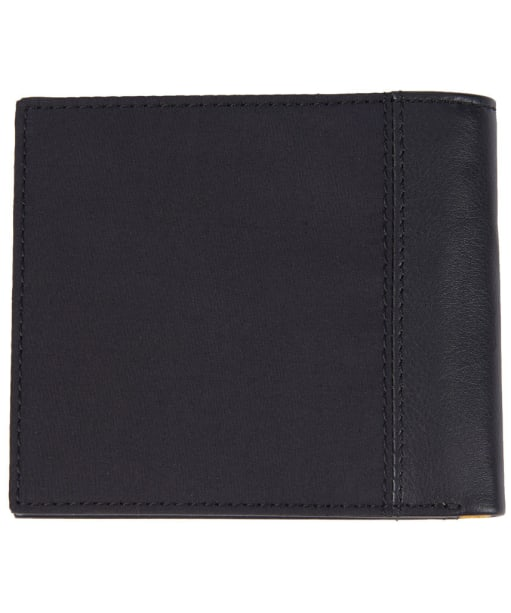 Men's Barbour International Waxed Leather Billfold Wallet - Black