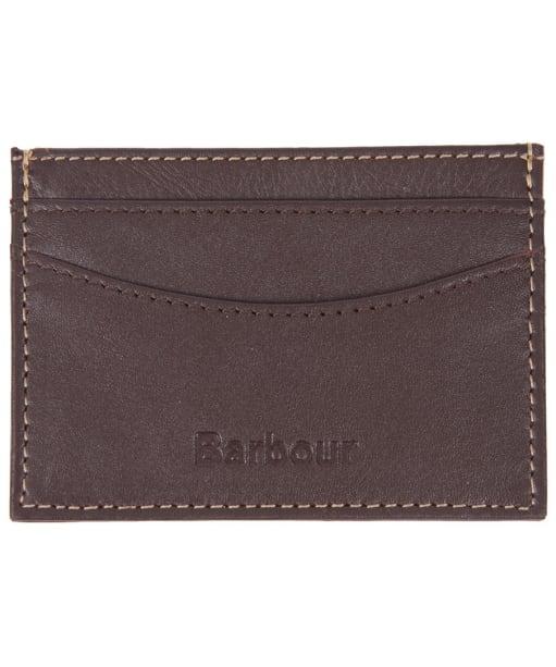 Men's Barbour Elvington Leather Cardholder - Brown / Tan