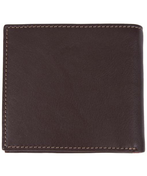 Men's Barbour Elvington Leather Billfold Coin Wallet - Brown / Tan